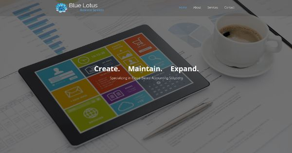 Websites by Daniel Portfolio (Blue Lotus Business Services)