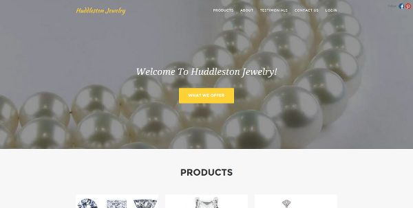 Websites by Daniel Portfolio (Huddleston Jewelry)