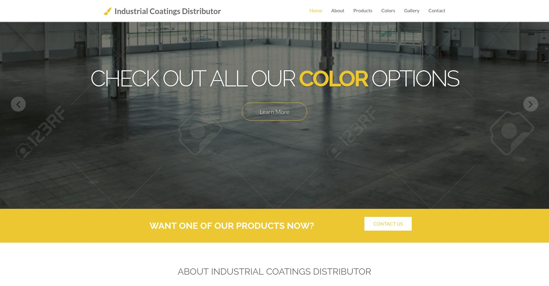 Websites by Daniel Portfolio (Industrial Coatings Distributor)